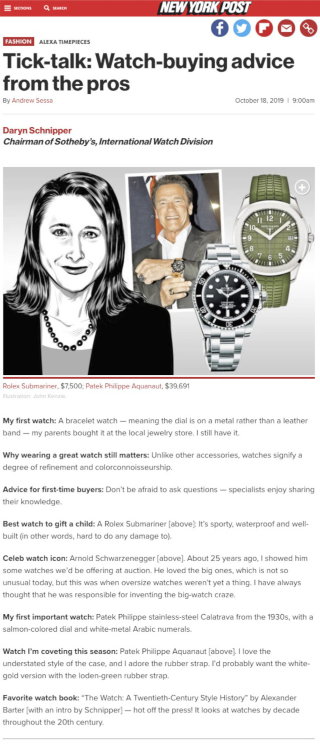 New York Post - October Alexander Barter The Watch