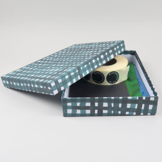A4 Storage Boxes covered in Gabriela Trzebinski for Black Bough Paper