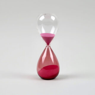 Glass sand timer by HAY - Medium pink