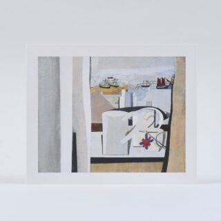 St Ives Greetings Card by Ben Nicholson