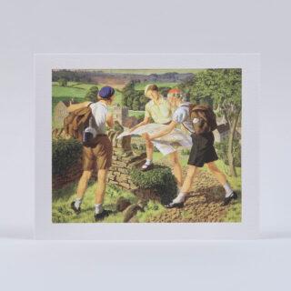 Hiking Greetings Card by James Walker Tucker