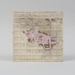 Brown floral tile