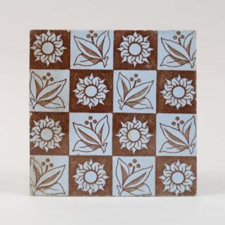 Brown & Blue tile