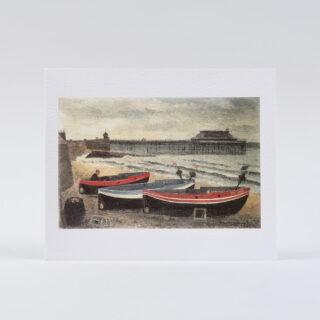 Boats on Cromer Beach
