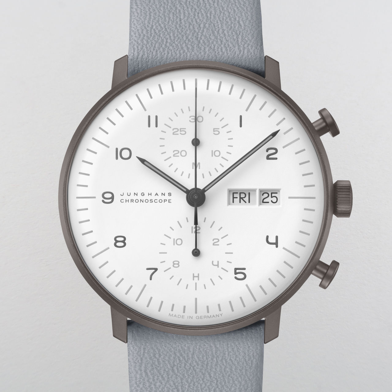Junghans Max Bill Chronoscope Day-Date Ref. 027/400.805 PVD coated steel chronograph