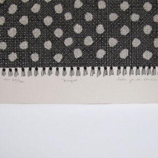 Beigel Screen Print by Lisa Jones