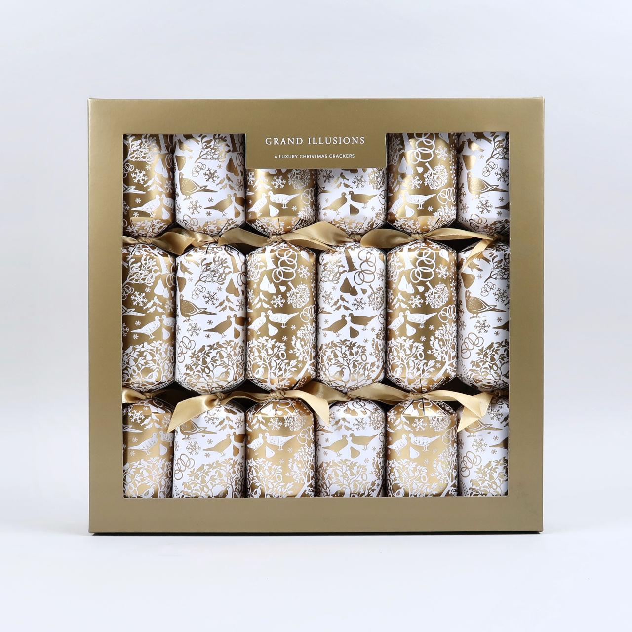 Luxury Christmas Crackers - Gold Partridge