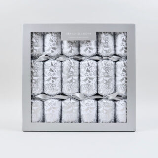 Luxury Christmas Crackers - Silver Partridge