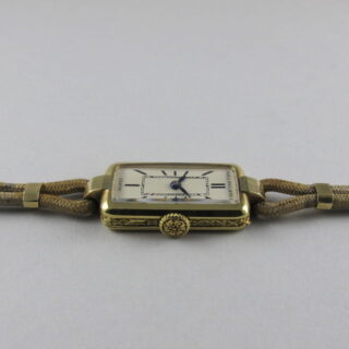 Gold Patek Philippe retailed by Musy Padre & Figli, vintage wristwatch, made in 1928