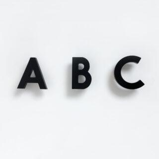 Alphabet Soup Wall Hooks - ABC - Black