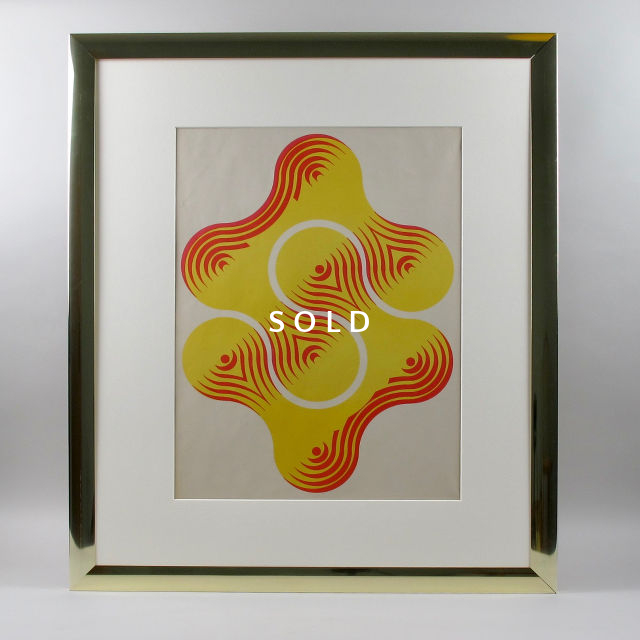 Framed Screen Print - Red/Yellow