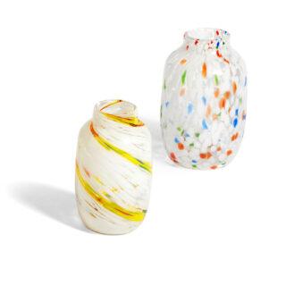 Hand Blown Splash Vase Medium - Lemon Swirl