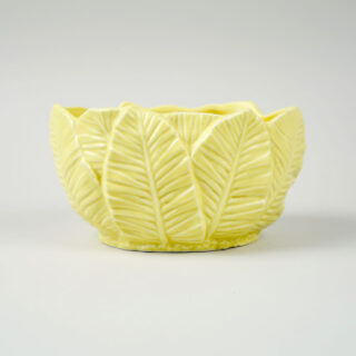 SylvaC Yellow Palm Leaf Planter