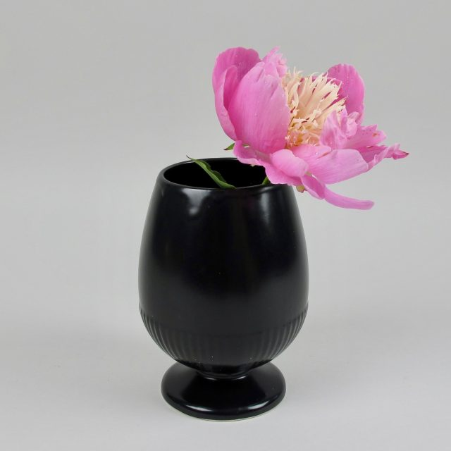 Dartmouth Pottery Black Vase Black Bough Ludlow