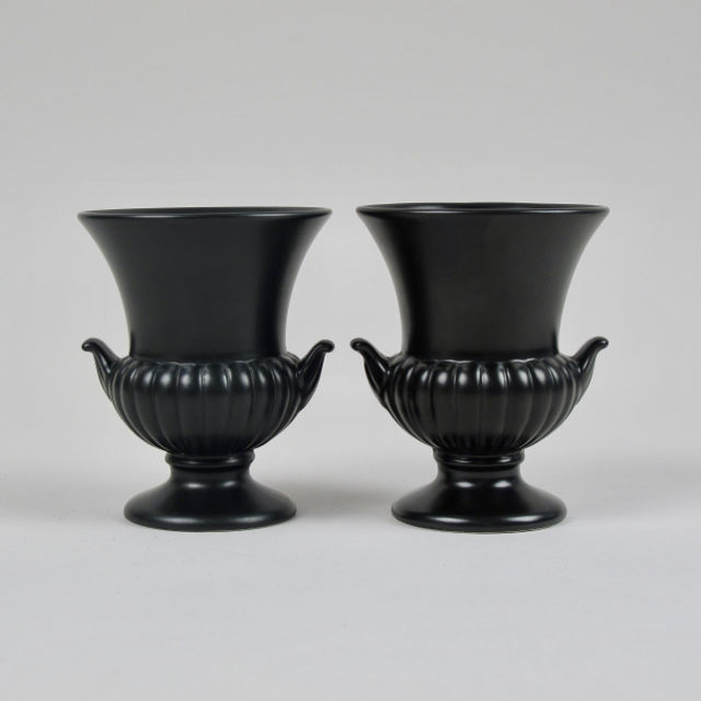 Small Wedgwood Campana Vase - Black