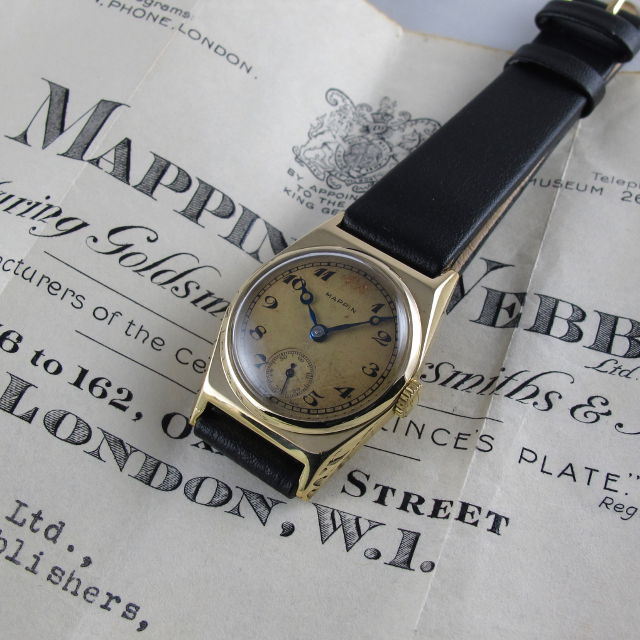 c22fc5a7706 Gold Mappin   Webb vintage wristwatch