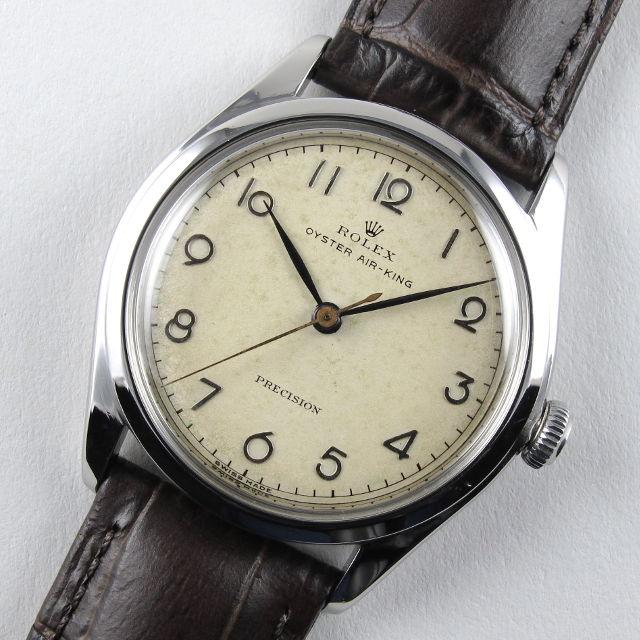 Steel Rolex Oyster Air-King Precision Ref. 4499 vintage wristwatch, circa 1946