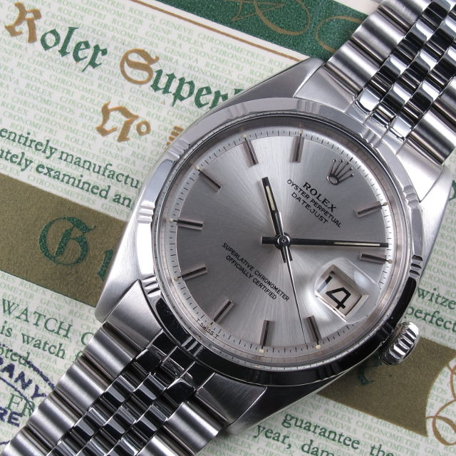 Steel Rolex Oyster Perpetual Datejust Chronometer Ref 1603 Vintage
