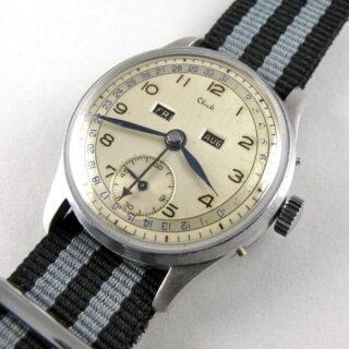 Steel & Chrome Unitas / Auguste Reymond Club vintage wristwatch, circa 1950