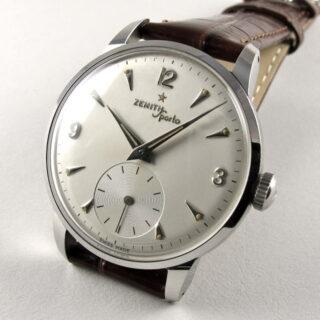 Steel Zenith Sporto vintage wristwatch, circa 1956