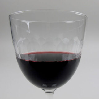 Box of 6 Etched 'Lens' Design Wine Glasses