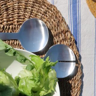 Pair of Stainless Steel Salad Servers