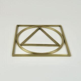 Brass Geometry Trivet