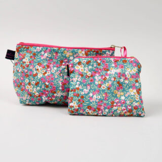 Liberty Print Fabric Purse - Wiltshire Retro