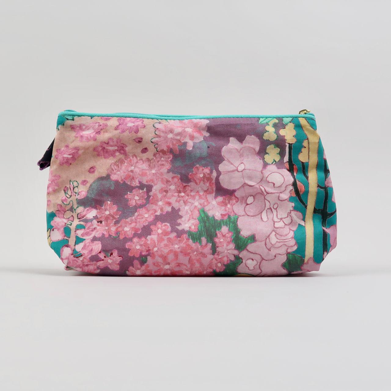 Liberty Print Cosmetic Bag - Anna's Garden Teal