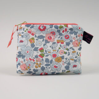 Liberty Print Fabric Purse - Betsy Coral
