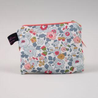Liberty Print Fabric Purse - Betsy Coral