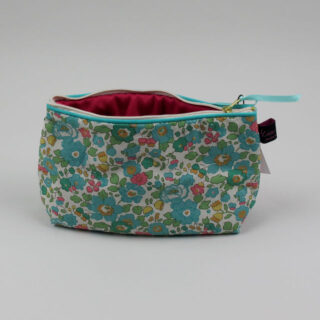 Liberty Print Fabric Cosmetic Bag - Betsy