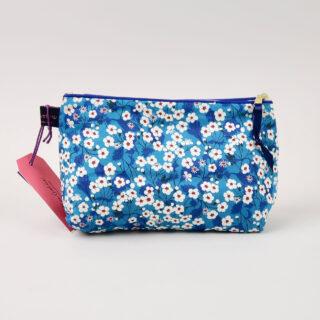 Liberty Print Fabric Cosmetic Bag - Mitsi Blue