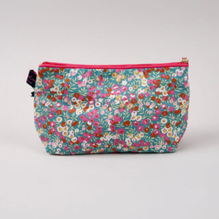 Liberty Print Fabric Cosmetic Bag - Wiltshire Retro