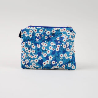 Liberty Print Fabric Purse - Mitsi Blue
