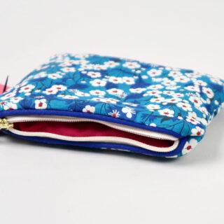 Liberty Print Fabric Purse - Mitsi Blue