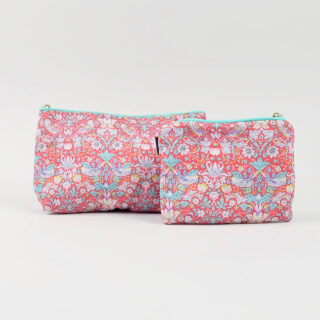 Liberty Print Fabric Purse - Strawberry Thief Red