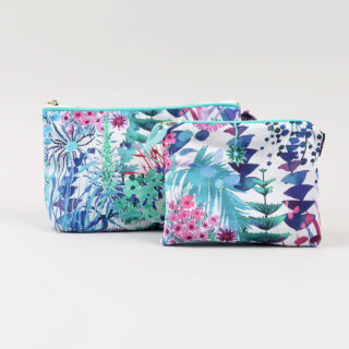 Liberty Print Fabric Purse - Tresco Aqua