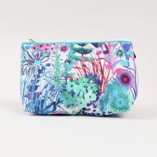 Liberty Print Fabric Cosmetic Bag - Tresco Aqua