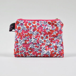 Liberty Print Fabric Purse - Wiltshire Red