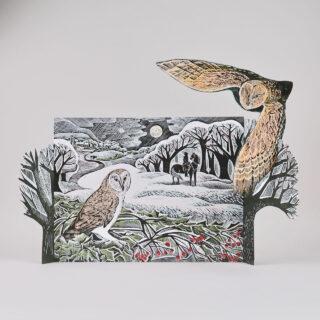 Owl in Winter Advent Calendar by Angela Harding