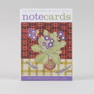Angie Lewin Notecard Set: Auriculas