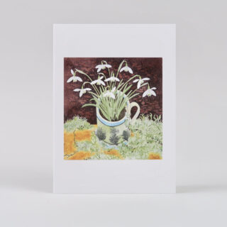 Angie Lewin Notecard Set: Snowdrops and Lichen, Snowdrops and Ferns