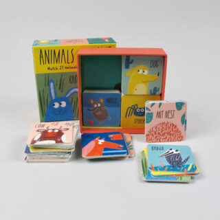 Animals at Home: A matching and memory game