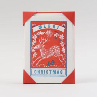 Pack of 5 Merry Christmas Deer Cards