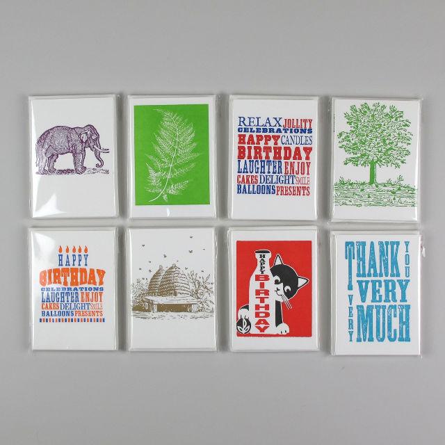 Pack of 5 Letterpress Cards