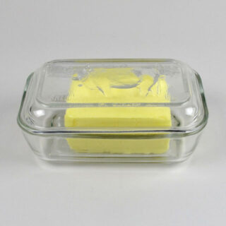 Glass Cow Butter Dish