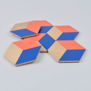 Table Tiles - Red & Blue