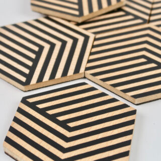 Table Tiles - Optic Black