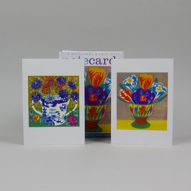 Pack of 10 Notecards by Matt Underwood - Crocus Egg Cup and Love in a Mist